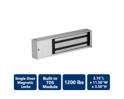 "Built-in ""TDS"" 1200 lbs. Single Door Magnetic Locks"