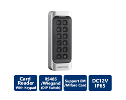 DS-K1107EK Hikvision Card Reader with Keypad