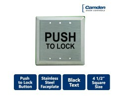 "Camden CM-45 4 1/2"" ""Push to Lock"" SQUARE Faceplate"