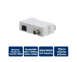 Single-Port Long Reach Ethernet over Coax Extender, Receiver