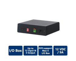 I/O Box, up to 12 Input & 5 Output, 12V/9A