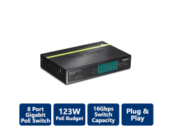 TPE-TG80G 8-Port Gigabit PoE+ Switch