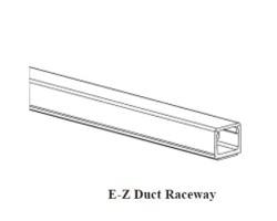 """GRI E-Z-38-W, 3/8"""" x 3/8"""" Raceway, 6' Length, White"""