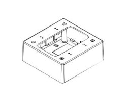 "GRI E-Z Duct Junction Box (For EZ-75), W -5"" x H -5"" x D -2"", White"