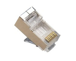 Platinum Tools 106183C RJ45 (8P8C) Cat5e Shielded HP, Round-Solid. 10/Clamshell.