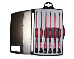 Platinum Tools 19110 1KV Insulated Precision Screwdriver Set, 6 pc.