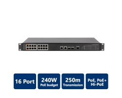PFS4218-16ET-240 16-Port PoE Switch