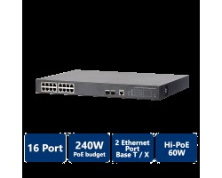 16-Port PoE Gigabit Managed Switch