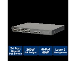 24-Port PoE Gigabit Managed Switch