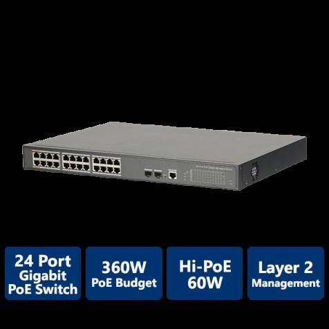 24-Port PoE Gigabit Managed Switch