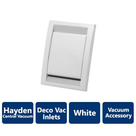 White Deco Vacuum Inlet