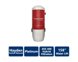 655 AW Platinum Hayden Hybrid Filtration Central Vacuum