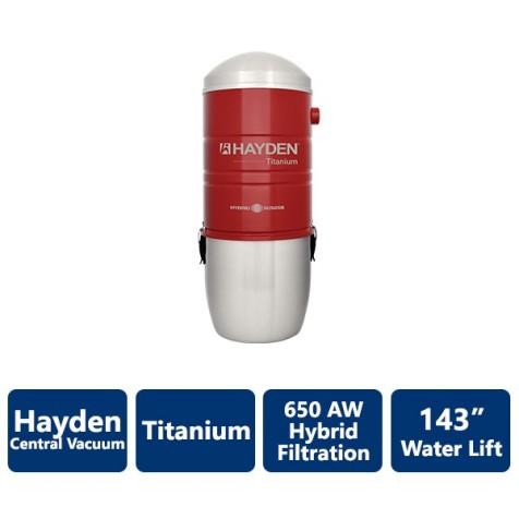 650 AW Titanium Hayden Hybrid Filtration Central Vacuum