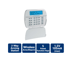DSC-WS9LCDWF9C PowerG 2-Way Wireless Arming Station