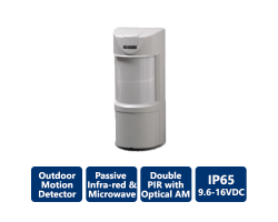 EDS-3000 AM Double Quad PIR and Microwave Outdoor Detectors
