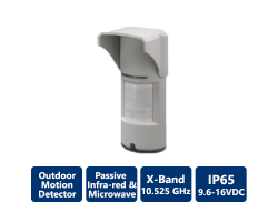 EDS-2000 AM Quad PIR & Microwave Outdoor Detectors with Optical Antimasking