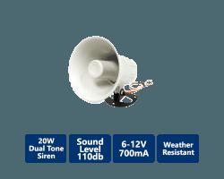 DSC-TRI-D20W 20W Dual Tone Siren