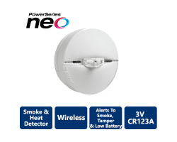 DSC-PG9916 Wireless PowerG Smoke and Heat Detector