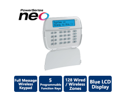 DSC-HS2LCDWF9ENG Wireless Full Message LCD PowerG 2-Way Wire-Free Keypad