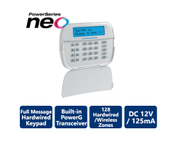 DSC-HS2LCDRF9ENG Full Message LCD Hardwired Keypad With Built-in PowerG Transceiver