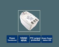 DSC-TRI-PIT1640C 16 Volt 40VA Power Transformer