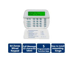 DSC-PK5500 PowerSeries 64-Zone LCD Full-Message Keypad (Wired, English Version)