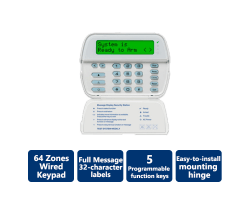 DSC-PK5500 PowerSeries 64-Zone LCD Full-Message Keypad (Wired)