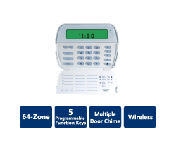 DSC-RFK5501 PowerSeries 64-Zone LCD Picture Icon Keypad with Built-In Wireless Receiver (Wireless)