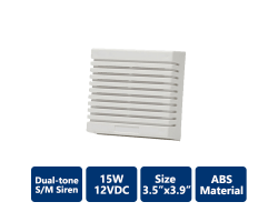 DSC-TRI-D15W 15w Dual-Tone S/M Siren