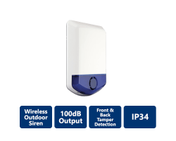 DSC-WT4911B 2-Way Wireless Outdoor Siren