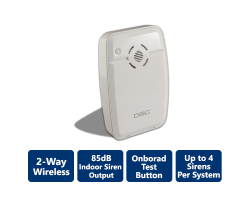 DSC-WT4901 2-Way Wireless Indoor Siren
