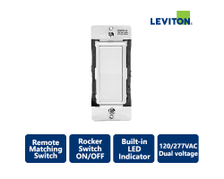 Leviton Decora Smart Dual Voltage Remote Matching Switch