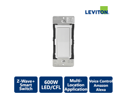 Leviton Decora 1800W Z-Wave+ Smart Switch