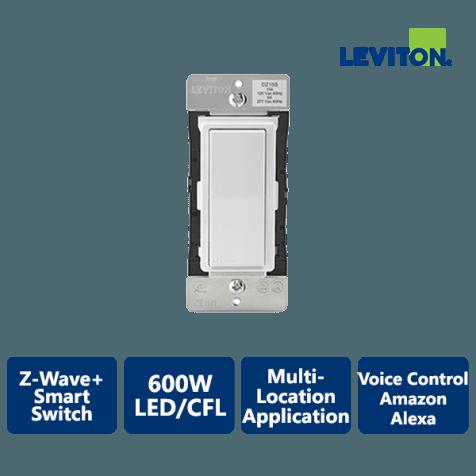 Leviton Decora 1800W Z-Wave+ Smart Switch