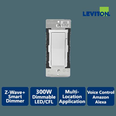 Leviton Decora 600W Z-Wave+ Smart Dimmer