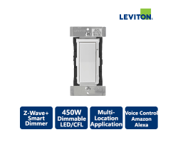 Leviton Decora 1000W Z-Wave+ Smart Dimmer