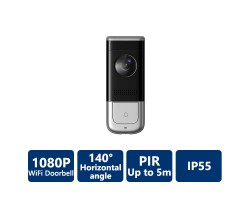 2MP PIR 140° FOV TRUE WDR WIFI VIDEO DOORBELL