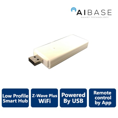 AIBASE Smart Home Controller: Z-Wave Gateway Powered by USB