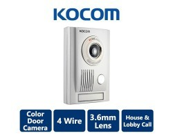 4 Wire KOCOM Video Intercom with 3.6mm Lens Camera