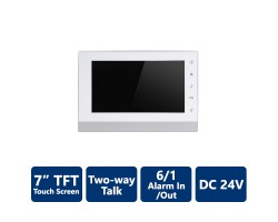 "7"" TFT Touch Screen 2-Wire IP Indoor Monitor"