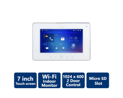 Wi-Fi Color Indoor Monitor, white color