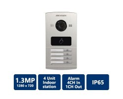 1.3MP Water Proof Metal Villa Door Station, 4-Unit
