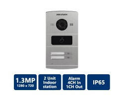 1.3MP Water Proof Metal Villa Door Station, 2-Unit