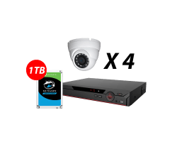 4 Channel 5MP AI-Based HDCVI Kit