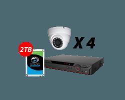 4 Channel 5MP H.265+ IP EYEBALL KIT