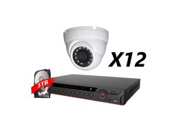 16 Channel, 12 Cameras 5MP IP WDR Kit, White, DH OEM