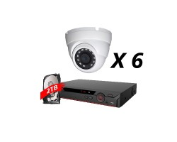 8 Channel, 6 Cameras 5MP IP WDR Kit, White, DH OEM
