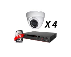 4 Channel, 4 Cameras 5MP IP WDR Kit, White, DH OEM