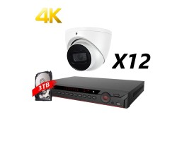 16 Channel, 12 Cameras 4K HD Kit, White, EyeOnet