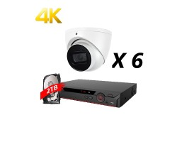 8 Channel, 6 Cameras 4K HD Kit, White, EyeOnet